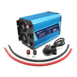 Smart Potência da onda senoidal pura Invertor 800watt com carregador de bateria