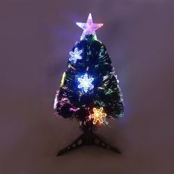 Best Selling Mini USB de fibras coloridas óptica árvore de natal inverno iluminado exterior galho Tree