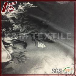 92% soie 8% Spandex Blended imprimé tissu stretch satin de soie