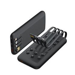 10000mAh móvel portátil Banco de potência com 4 cabos 1