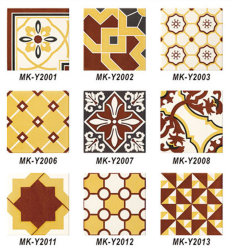 Современный дизайн желтый и белый декор схемы керамические плитки на стене