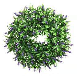 المصنع ساخنة بيع الزفاف منزل ديكور غارلاند قاعدة البلاستيك 40 سم الزهور يكلّف حلقة دائرية أزهار محفوظة أكليل الزهور على الديكور المعلق
