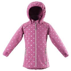 女の子のフード付きの防水羊毛によって並べられるウインドブレイカーのジャケットの子供の暗いピンク
