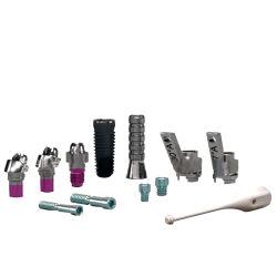 El tornillo Torx interior titanio maquinado CNC de piezas para el implante dental rebaje con CNC taladrado y fresado CNC