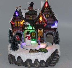 Estilo aldea LED Navidad decoración de la Casa de Regalos