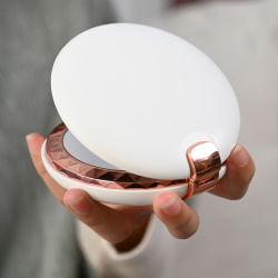 Beweglicher Schönheits-Verfassungs-Spiegel-Handwärmer mit LED-Licht