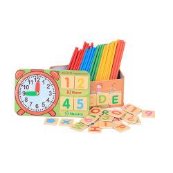 교육 아이 다채로운 나무로 되는 자석 배우는 지팡이 수학 장난감