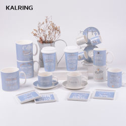 Caneca de cerâmica de louça de porcelana caneca de café de comércio por grosso