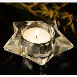 Bougeoir en verre en cristal de forme Five-Star Craft pour cadeau
