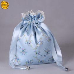 Sinicline Sacos de tecido personalizado requintado com cordão ajustável da fita de embalagem