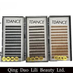 Lilibeauty cils individuels de couleur de haute qualité