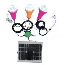 مجموعة نظام بورملعقار المنزلي مع ضوء نظام الطاقة الشمسية USB Chager مع شاشة العرض العاملة بالطاقة