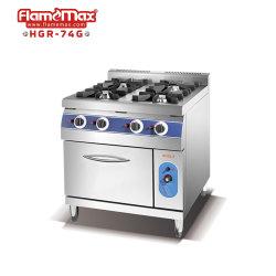 4 het Kooktoestel van het Gasfornuis van de brander met Apparatuur van het Restaurant van de Apparatuur van het Gasfornuis van het Gasfornuis van de Waaier van de Apparatuur van de Catering van de Apparatuur van de Keuken van de Oven van het Gas de Kokende Kokende