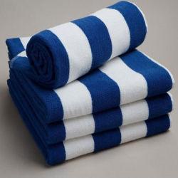 Качество печати полосы хлопок бархат пляж полотенце/бассейн полотенце/плавательный полотенце