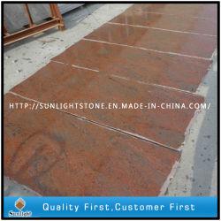 A Índia Multicolor Lajes de granito vermelho para bancadas de trabalho/Tombstone/ladrilhos do piso