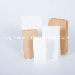 Personnalisé kraft blanc/marron/sac de papier d'art de l'emballage, de bonbons/sac cadeau/pain/écrou/sac de papier alimentaire