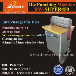 كهربائي 2: 1 و3: 1 A3 A4 التقويم ثقب سلك الحبل مزدوج الحلقة Die Punching ورقة لكمة صناعية
