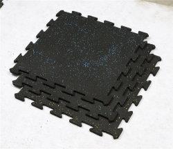 Serviço Pesado Inter-Locked Azulejos do piso de borracha SBR Pavimentadora de borracha colchão para Crossfit tampa do equipamento