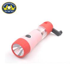 USBが付いている0.5W 1 LEDの手動クランクのEmegencyの懐中電燈