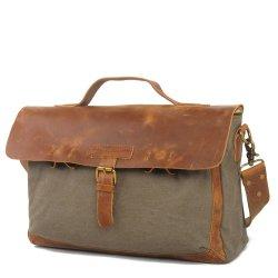 Hombre lienzo bolso de cuero Patchwork RS-2012bolsas (DA)