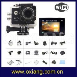 de MiniCamera van de Sport van de Camera van de Helm 2inch 1080P met WiFi het Registreertoestel van de Functie W9 DV