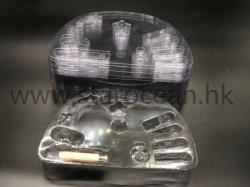 リップの光沢かリップカラープラスチック化粧品または構成の包装の皿または容器