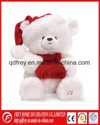 Livro Branco de pelúcia ursinho de brinquedo para o Dia de Natal