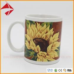 Commerce de gros 11oz Tasse en céramique émaillée de couleur/tasse à café/thé ensemble de la coupe du pour cadeau
