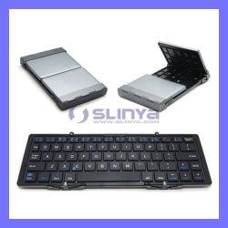 Мини-Universial портативный тонкий складной Auminum беспроводная клавиатура Bluetooth складные для Ios Andriod Планшетные ПК под управлением Windows