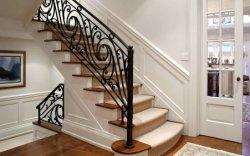 La pulverización de polvo de metal de hierro forjado Baranda Escalera de casa prefabricada pintada