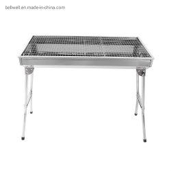 Carvão churrasco grill portátil dobrável de Aço Inoxidável Kits de Ferramenta churrascos para cozinha exterior Camping Caminhadas Piqueniques Revestimento como mochileiro ou qualquer evento no exterior (L