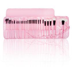 Pc 32 pinceles de maquillaje cosmético, se establece con la lana y el mango de madera