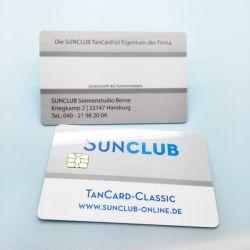 Les5542 Impresso personalizado de codificação de fechadura da porta do cartão chip IC inteligente de contato para controle de acesso
