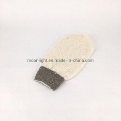 La exfoliación suave de algodón suave ducha Mitt
