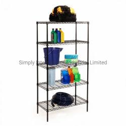 Scaffale regolabile in filo metallico a 5 ripiani per scaffali per scaffali