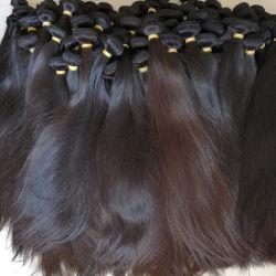 Comercio al por mayor de la India Natural Brasileño Chino Ruso Remy Virgen de la cutícula de extensión de cabello humano.