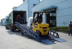 Hydraulisches Lager-bewegliche Behälter-Eingabe-Yard-Rampe für Verkauf