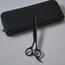 Peluquería Mango escarchado de Teflón Revestimiento de adelgazamiento de corte tijeras de peluquería