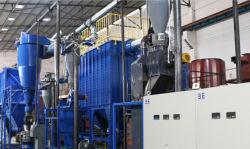 Аккумуляторная батарея для отходов переработки раздавливания линии