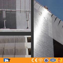Tissé de métal en acier inoxydable et décoration en cuivre Net