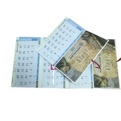 広告のFoldable壁掛けカレンダーの印刷3か月の壁掛けカレンダー2020年の