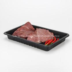 黒いスーパーマーケットPPのまめの使い捨て可能なプラスチック食糧皿を包むカスタマイズされた冷凍食品