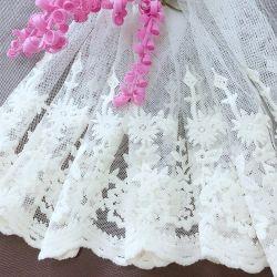 По-французски Net кружевной ткани Saree кружевной вышивкой