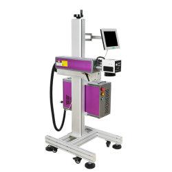 Sur la machine de marquage au laser à fibre de ligne de code machine à gravure laser de l'imprimante laser pour les produits pharmaceutiques Box/Sac en aluminium