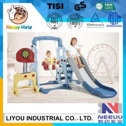 新しい子どもだましのゲームのおもちゃの子供のプラスチックスライドおよび振動一定の屋内運動場装置