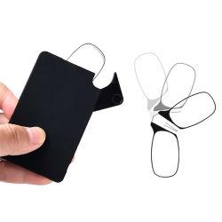 2020 Nueva actualización de bolsillo de la tarjeta de gafas de lectura Los lectores de Delgado encajar gafas Gafas de lectura de la nariz de silicona Mini sin armas