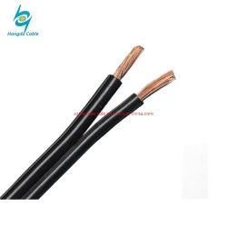 2 Core PVC plana PE isolada 0,8mm Telefone de cobre do fio de Queda