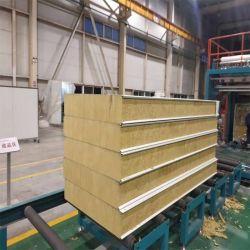 工場のための50mm/75mm/100mm/125mm/150mmの岩綿の壁サンドイッチパネル