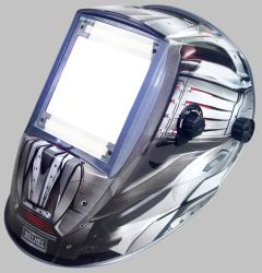 Alimentada a energia solar Auto-Darkening capacete de soldagem / máscara de solda (WH9801355)