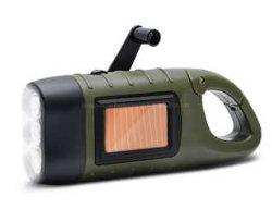 Camping lampe de poche solaire d'urgence à l'extérieur de la manivelle Trousse de survie de charge